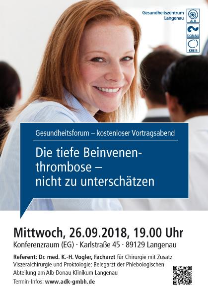 Gesundheitsforum Langenau, September 2018