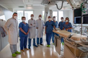 Team des Herzkatheterlabors im Alb-Donau Klinikum Ehingen